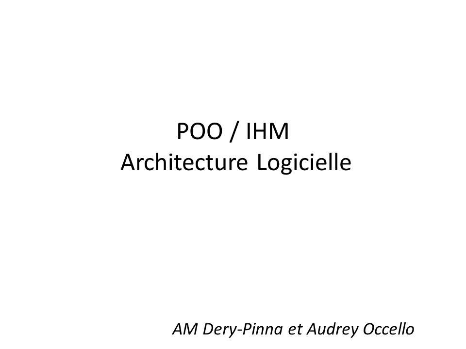 POO / IHM Architecture Logicielle AM Dery-Pinna et Audrey Occello
