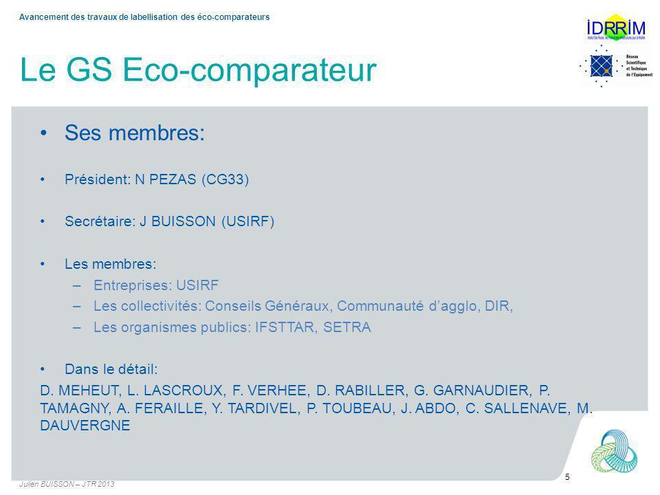 Le GS Eco-comparateur Les Avis Techniques s appliquent à des LEEIT (éco-comparateur) établissant des évaluations comparatives des bilans environnementaux des infrastructures tant pour les phases de conception, de réalisation, dentretien, de maintenance et dexploitation de ces infrastructures.