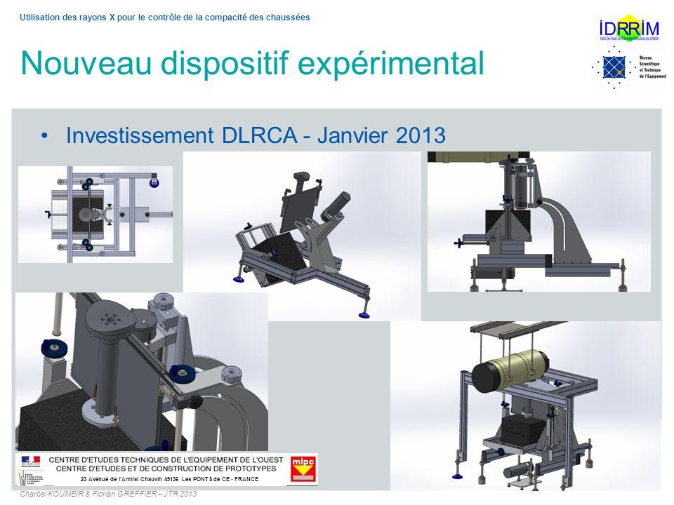 Investissement DLRCA - Janvier 2013 23 Avenue de lAmiral Chauvin 49136 Les PONTS de CE - FRANCE Utilisation des rayons X pour le contrôle de la compac