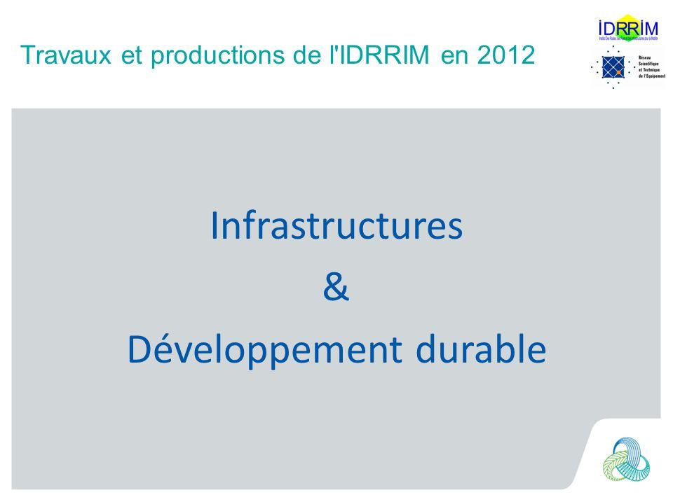 Travaux et productions de l IDRRIM en 2012 012 Infrastructures & Développement durable