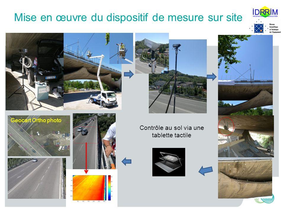 Mise en œuvre du dispositif de mesure sur site Geocart Ortho photo Contrôle au sol via une tablette tactile