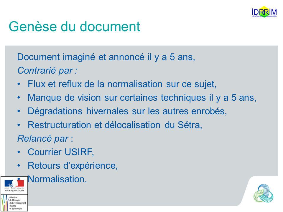 Structure du document (travail) 6 chapitres : 1.Pourquoi les enrobés tièdes .