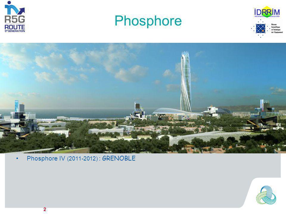 Phosphore 2 –Laboratoire prospectif de recherche en DD –Démarrage mi-2007 –Objectif : imaginer les solutions techniques de demain –Groupe de travail R