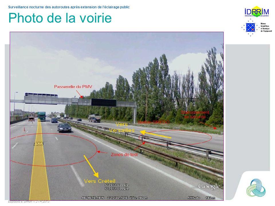 Surveillance nocturne des autoroutes après extension de l'éclairage public Photo de la voirie Esposito & Simon – JTR 2013
