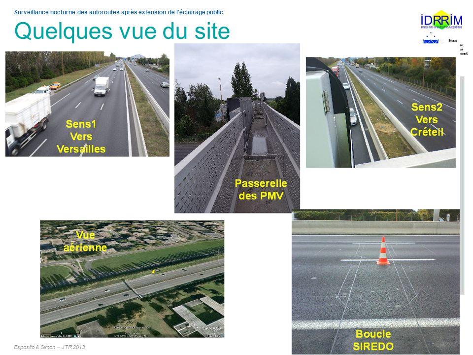 Surveillance nocturne des autoroutes après extension de l'éclairage public Quelques vue du site Esposito & Simon – JTR 2013