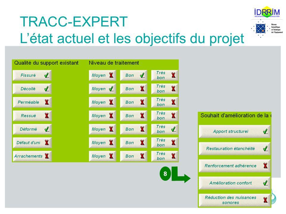 Techniques Routières Adaptées au changement Climatique TRACC-EXPERT Létat actuel et les objectifs du projet 8