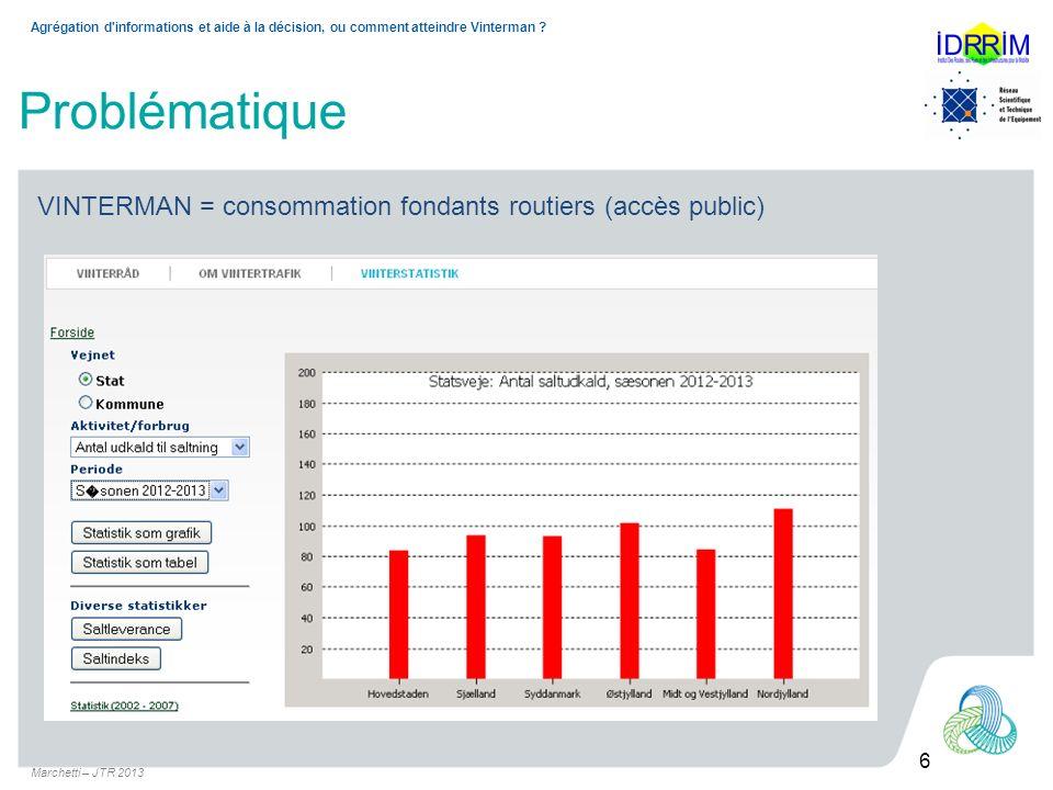Marchetti – JTR 2013 6 Agrégation d informations et aide à la décision, ou comment atteindre Vinterman .