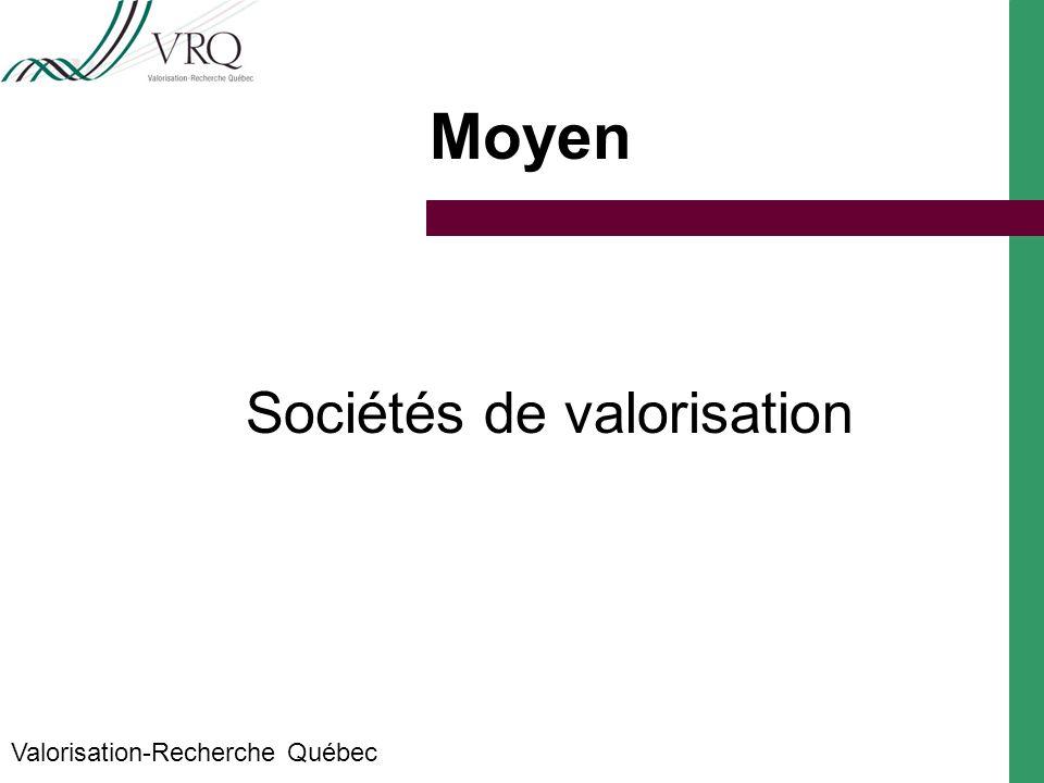 Objectifs Accroître la valeur marchande des résultats de la recherche Augmenter les retombées pour la société québécoise Valorisation-Recherche Québec