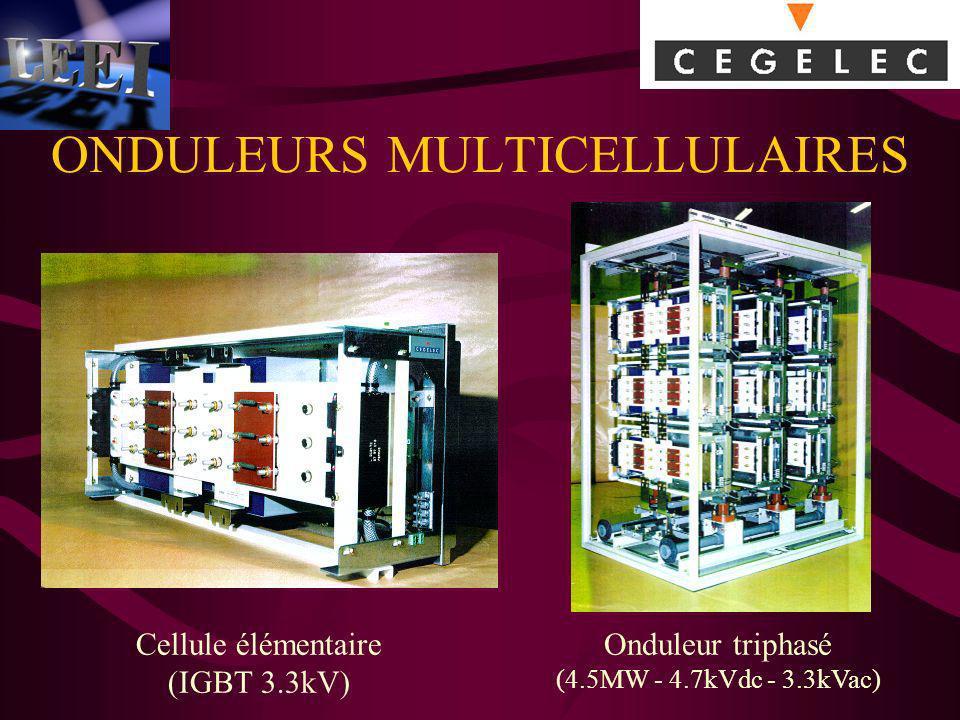 ONDULEURS MULTICELLULAIRES Cellule élémentaire (IGBT 3.3kV) Onduleur triphasé (4.5MW - 4.7kVdc - 3.3kVac)