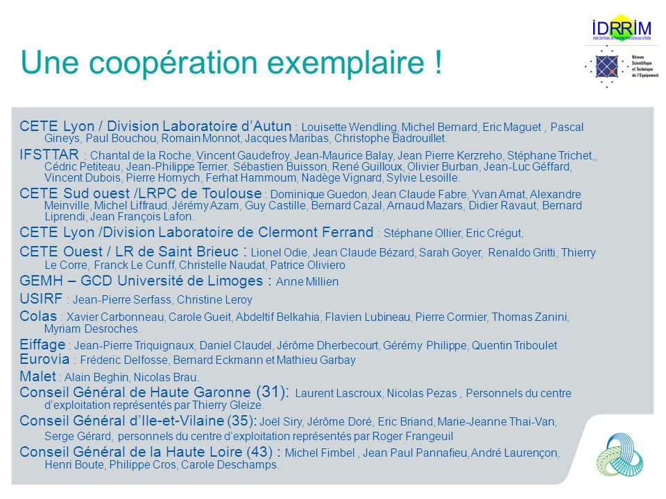 Une coopération exemplaire ! CETE Lyon / Division Laboratoire dAutun : Louisette Wendling, Michel Bernard, Eric Maguet, Pascal Gineys, Paul Bouchou, R