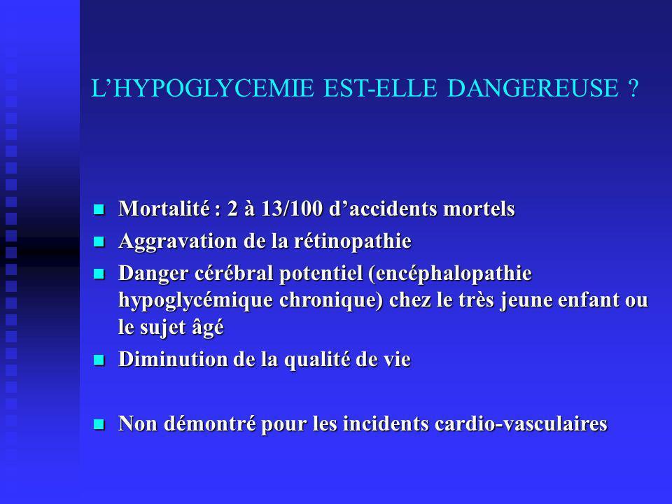 LHYPOGLYCEMIE EST-ELLE DANGEREUSE .