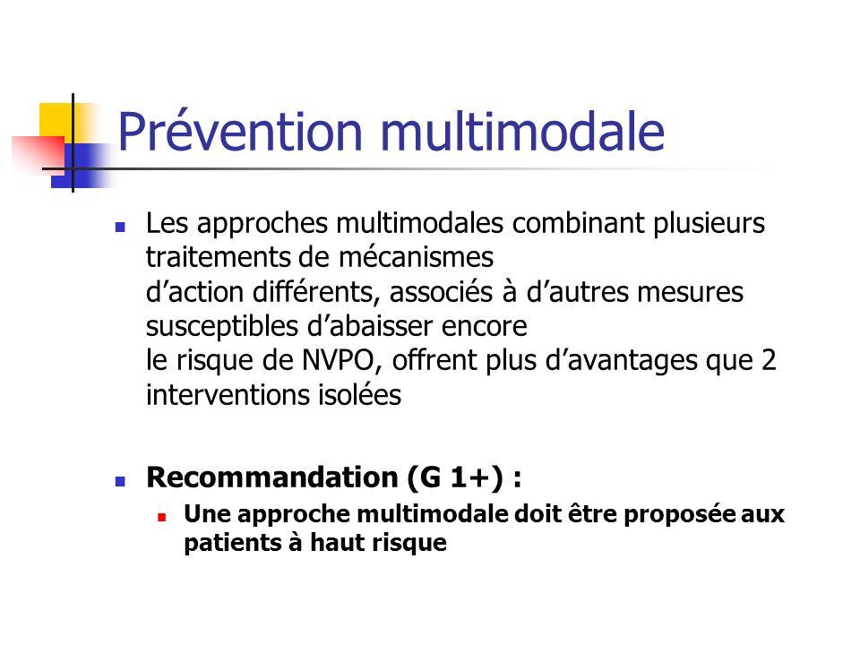 Prévention multimodale Les approches multimodales combinant plusieurs traitements de mécanismes daction différents, associés à dautres mesures suscept