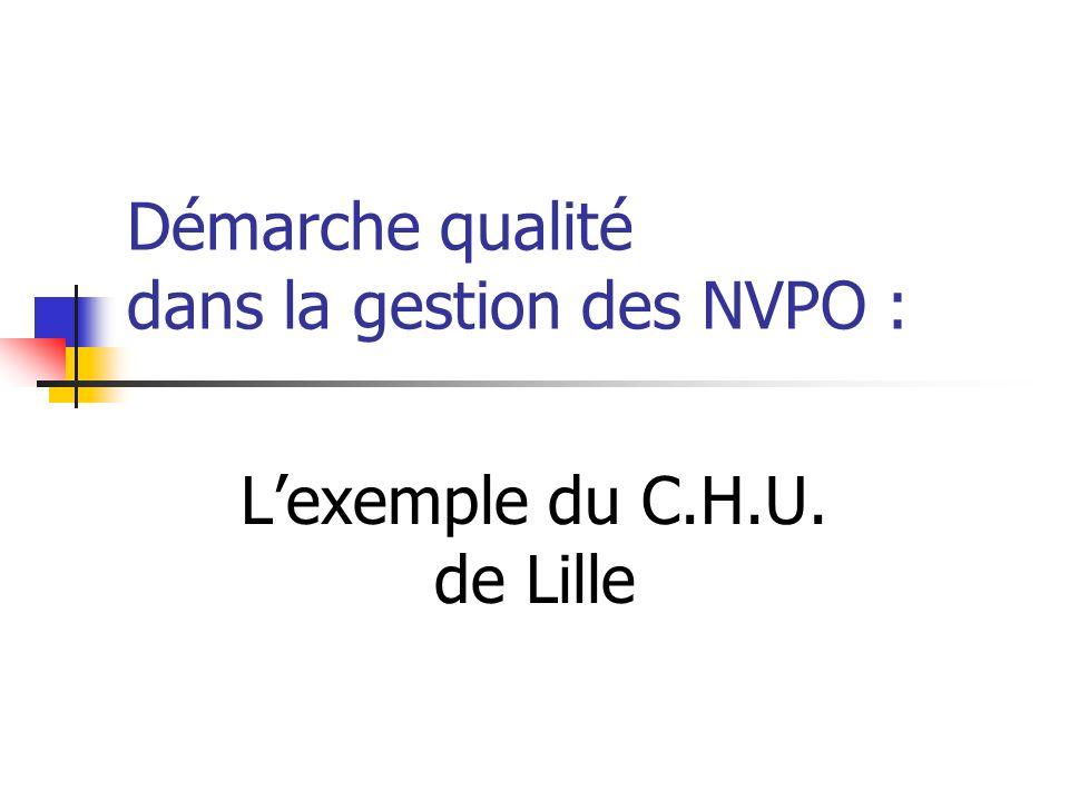Démarche qualité dans la gestion des NVPO : Lexemple du C.H.U. de Lille