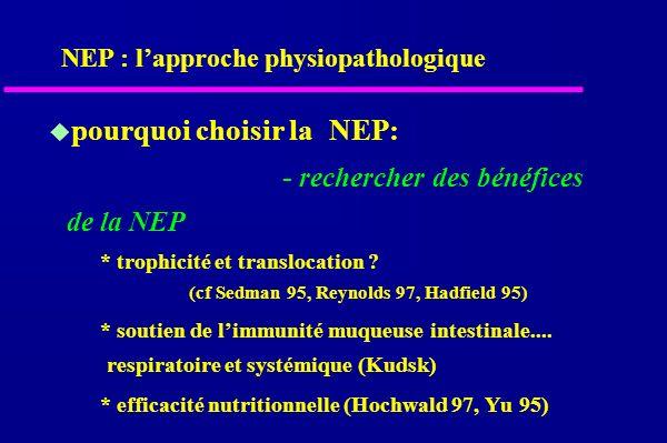 pourquoi choisir laNEP: - rechercher des bénéfices de la NEP * trophicité et translocation .