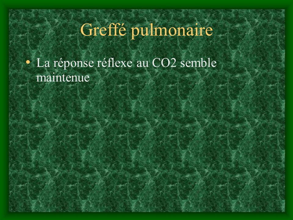 Greffé pulmonaire La réponse réflexe au CO2 semble maintenue