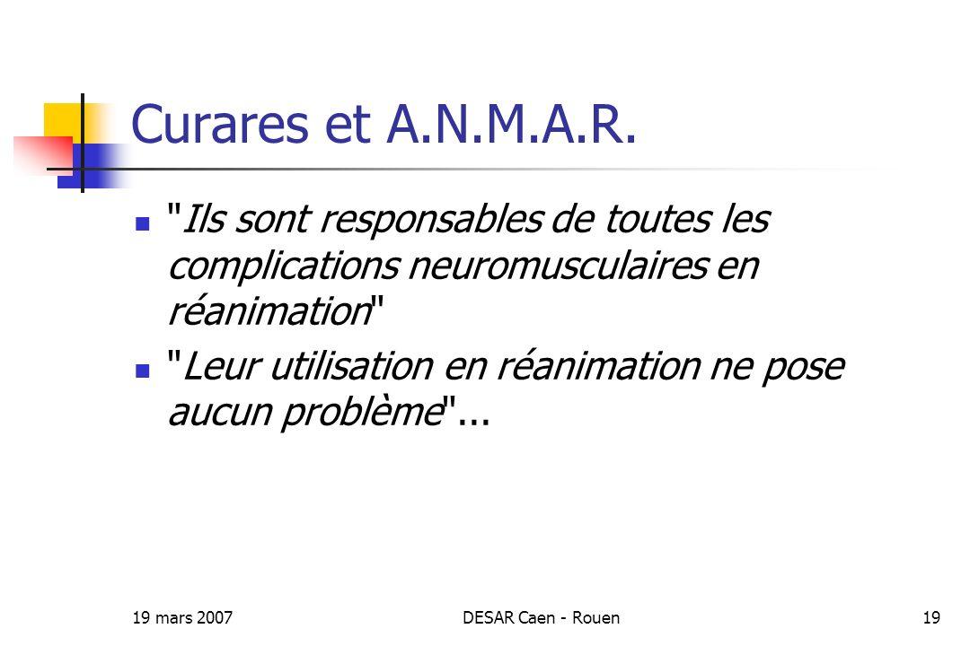 19 mars 2007DESAR Caen - Rouen19 Curares et A.N.M.A.R.