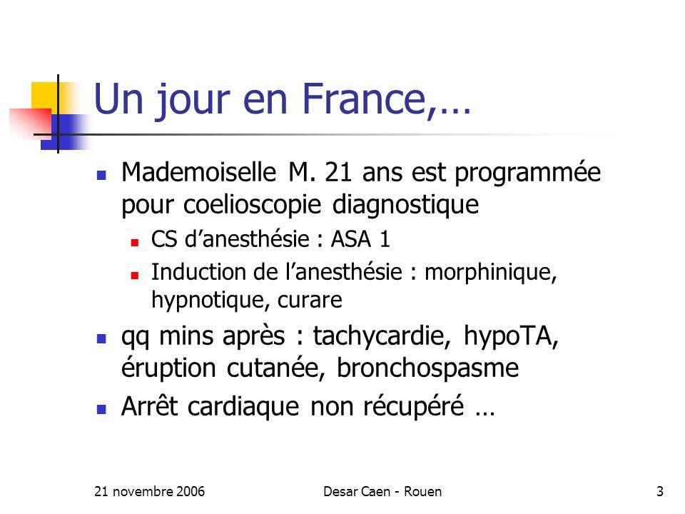 21 novembre 2006Desar Caen - Rouen3 Un jour en France,… Mademoiselle M.