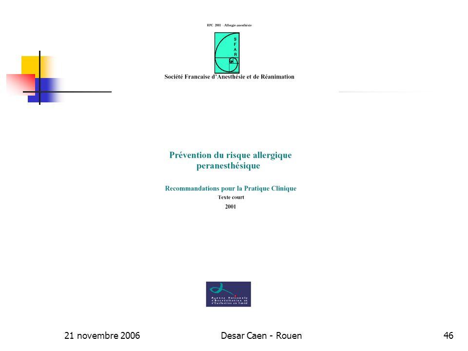 21 novembre 2006Desar Caen - Rouen46