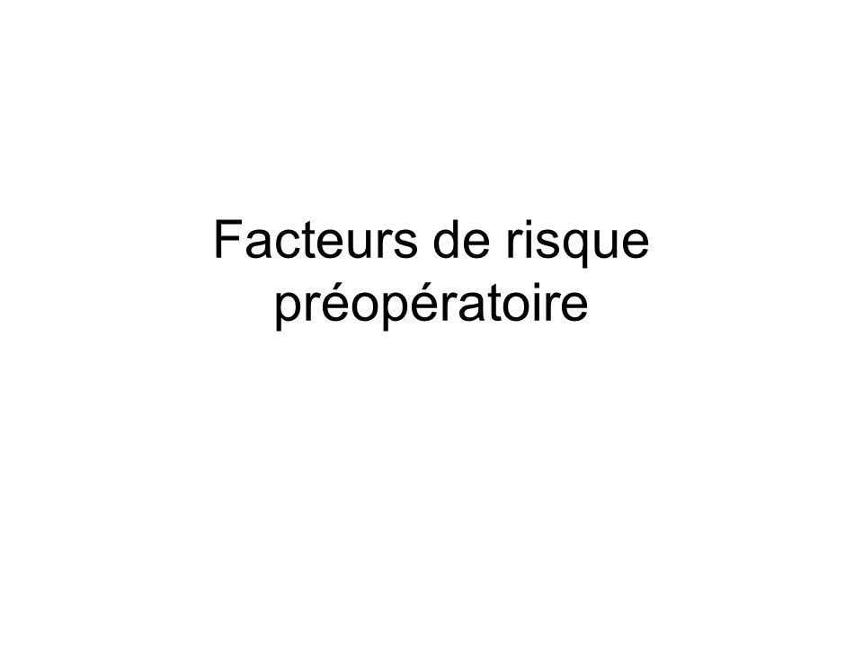 Facteurs de risque préopératoire