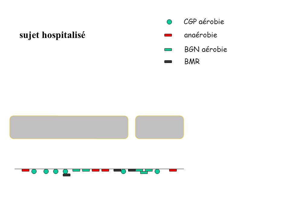 CGP aérobie anaérobie BGN aérobie BMR sujet hospitalisé