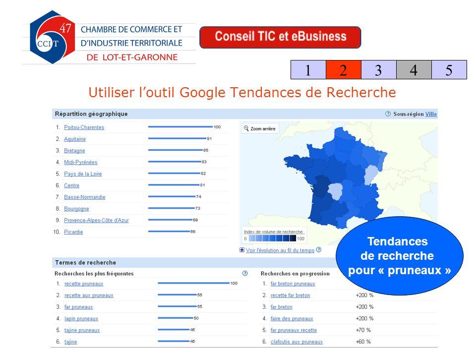 Utiliser loutil Google Tendances de Recherche 123 4 5 Tendances de recherche pour « pruneaux »