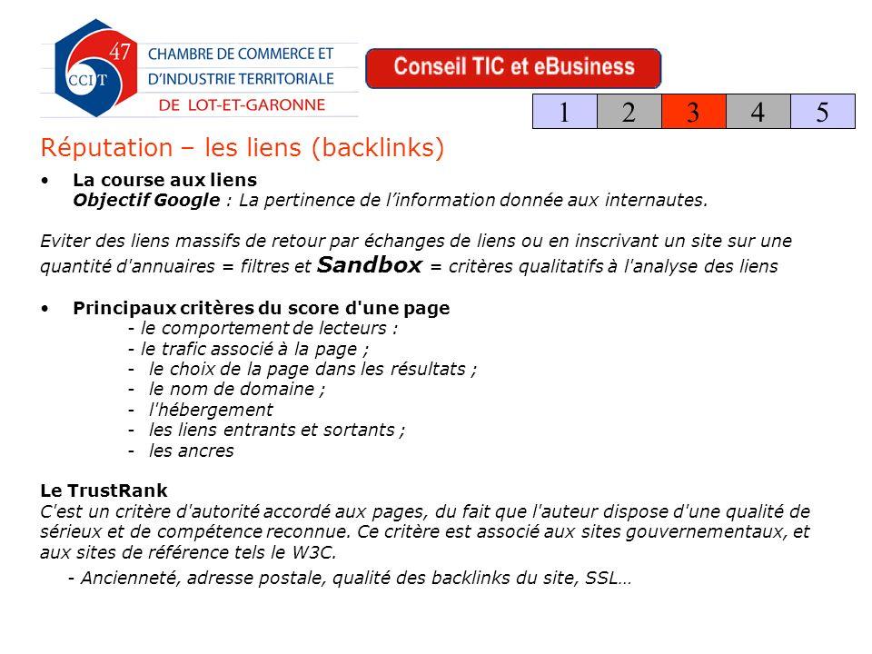 La course aux liens Objectif Google : La pertinence de linformation donnée aux internautes.