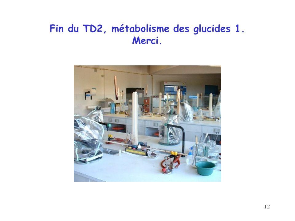 12 Fin du TD2, métabolisme des glucides 1. Merci.