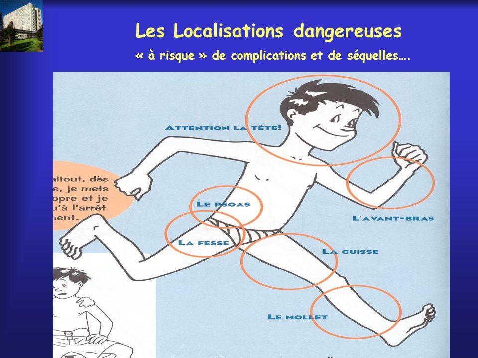 Les Localisations dangereuses « à risque » de complications et de séquelles….