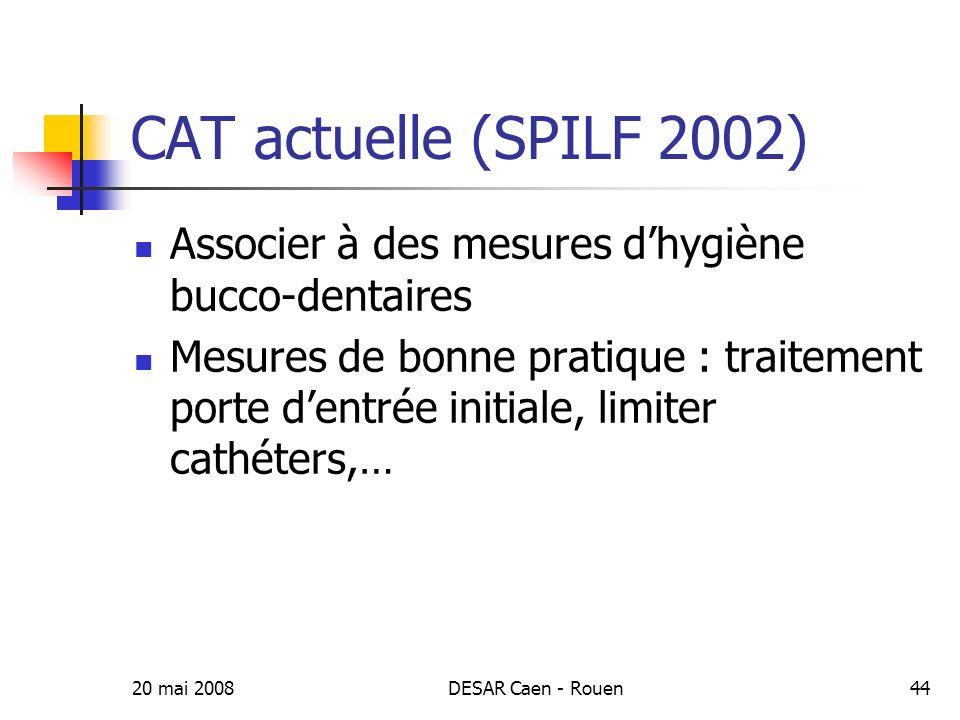 20 mai 2008DESAR Caen - Rouen45 Individus à risques dEI Cardiopathies à risque Situations à risque et