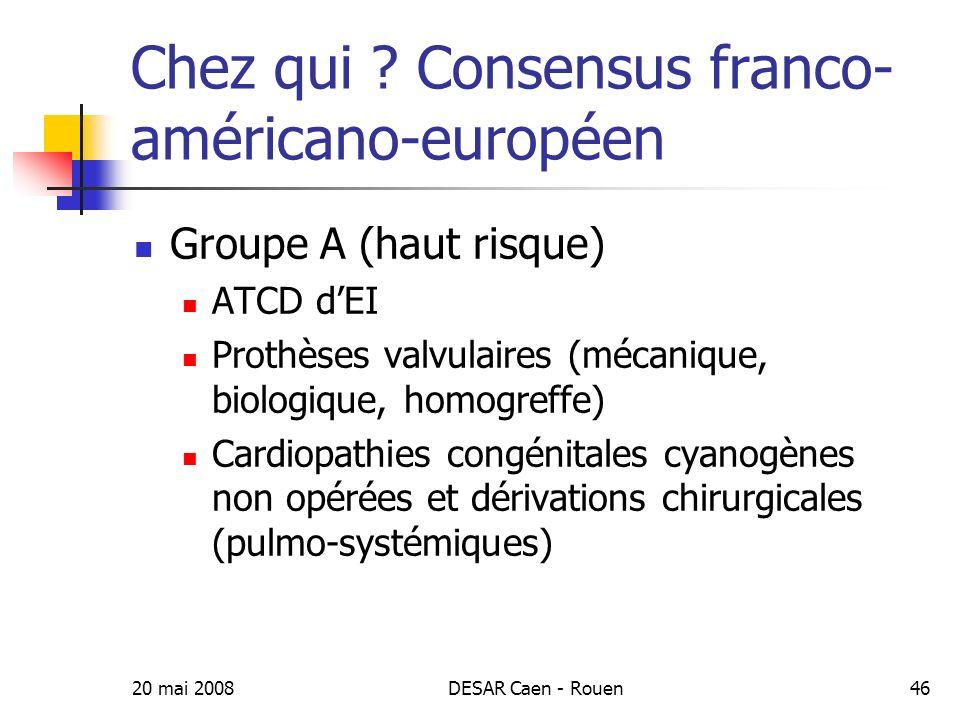 20 mai 2008DESAR Caen - Rouen47 Chez qui .
