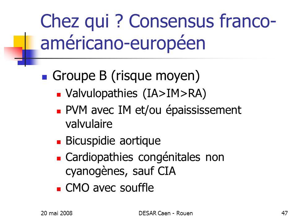 20 mai 2008DESAR Caen - Rouen48 Chez qui .