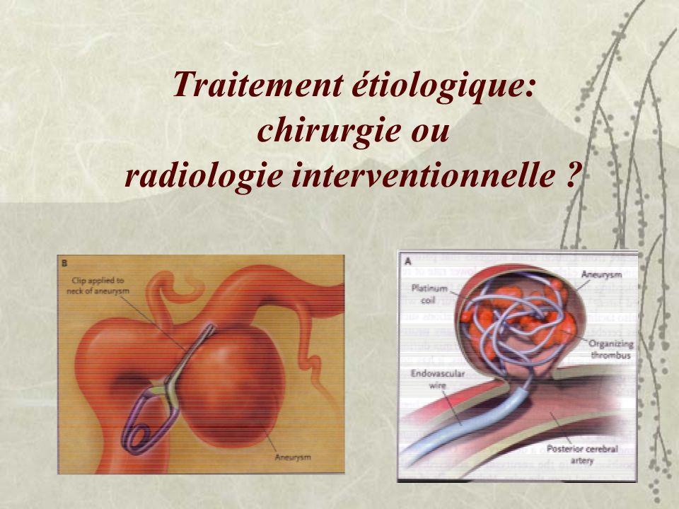 Traitement étiologique: chirurgie ou radiologie interventionnelle ?