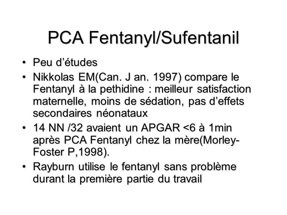 PCA Fentanyl/Sufentanil Peu détudesPeu détudes Nikkolas EM(Can.