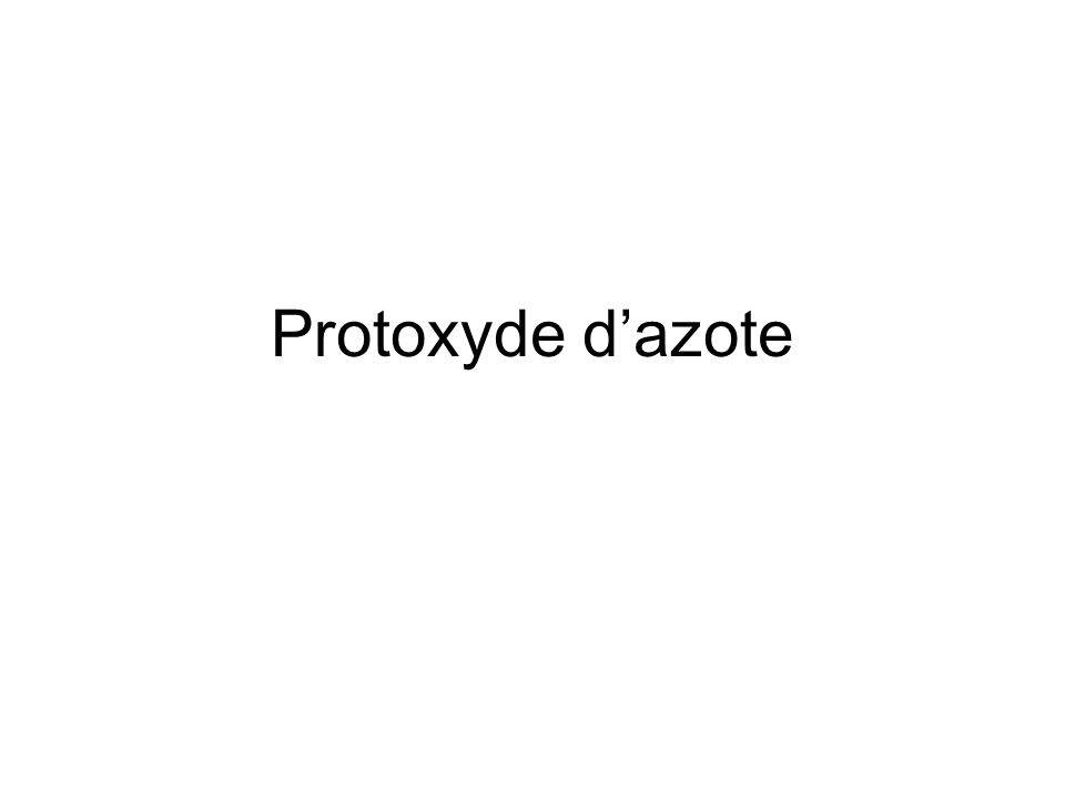 Protoxyde dazote
