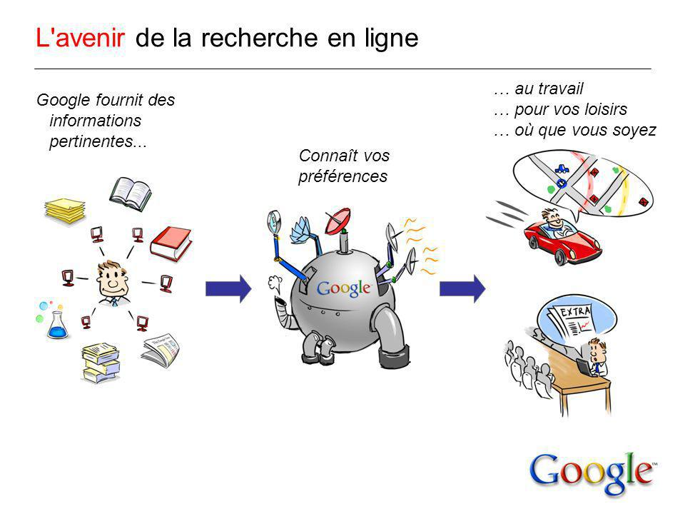 L avenir de la recherche en ligne Google fournit des informations pertinentes...