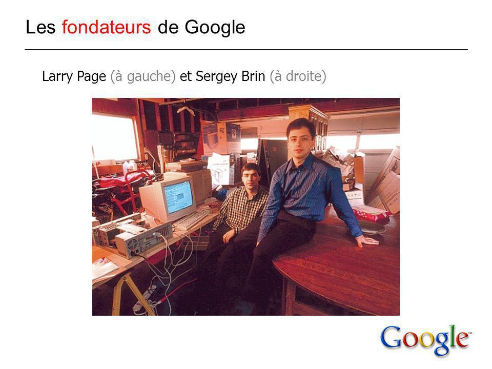 Larry Page (à gauche) et Sergey Brin (à droite) Les fondateurs de Google