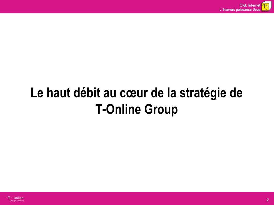 2 Le haut débit au cœur de la stratégie de T-Online Group