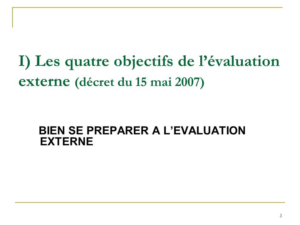 14 Le choix de lévaluateur (les étapes de lévaluation externe 2/4) Quest ce que lhabilitation .