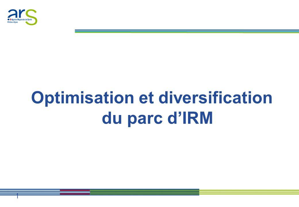 Optimisation et diversification du parc dIRM 1