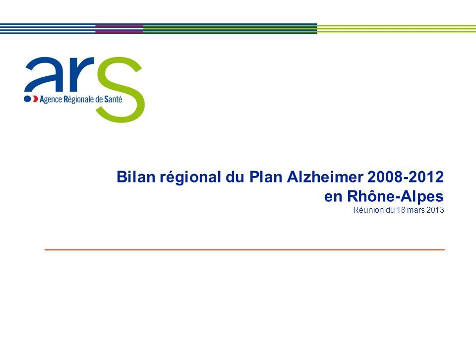 Bilan régional du Plan Alzheimer 2008-2012 en Rhône-Alpes Réunion du 18 mars 2013 ____________________________________________________________________