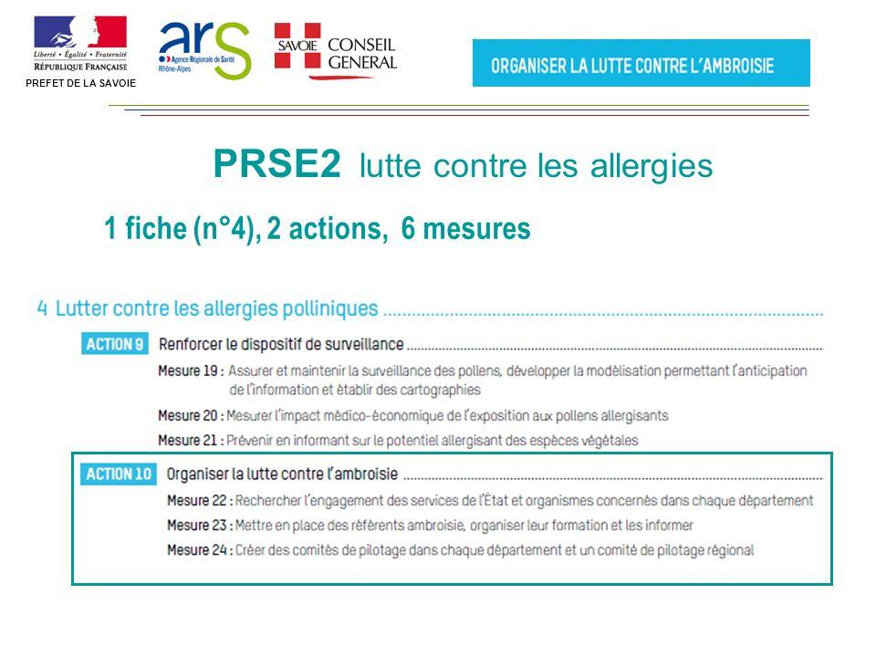 PRSE2 lutte contre les allergies 1 fiche (n°4), 2 actions, 6 mesures PREFET DE LA SAVOIE