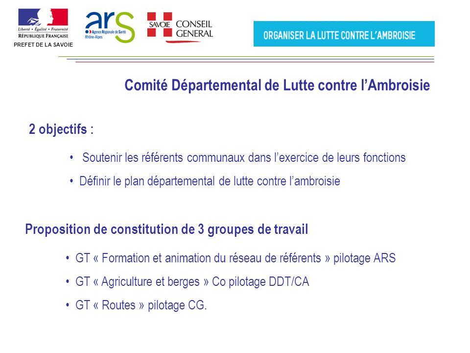 GT « Formation et animation du réseau de référents » pilotage ARS GT « Agriculture et berges » Co pilotage DDT/CA GT « Routes » pilotage CG.