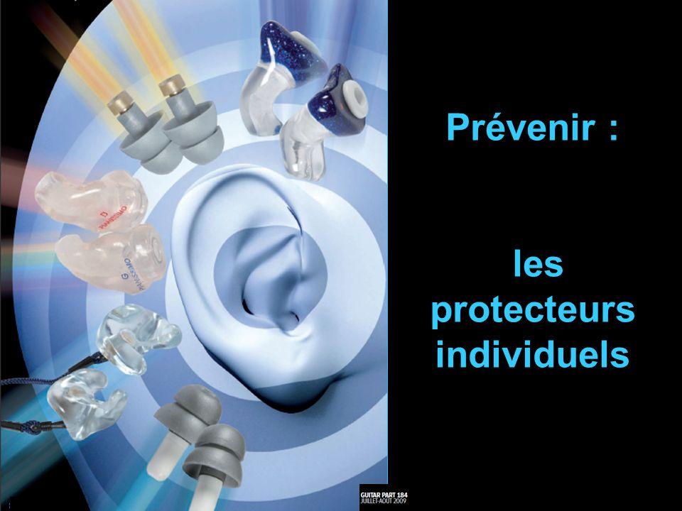 J.LEVECQ Protecteurs individuels Atténuation en dB Etude comparative protection auditive Coût en In ear monitors Retour de scène -25 200 à 850 à ailettes quasiment linéaire -14 -16 -18- 20 ~ 25 silicone ou acrylique moulé filtre linéaire -9 -15 -25 -37 130 à 160 -28 / -37 Mousse Filtrage important < 1