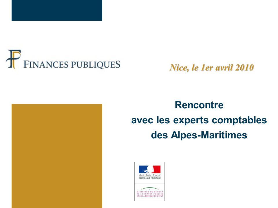 Rencontre avec les experts comptables des Alpes-Maritimes Nice, le 1er avril 2010