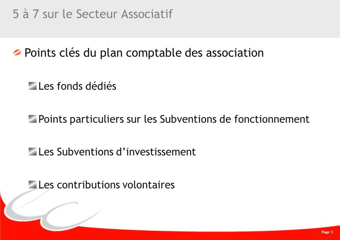 Page 3 CREATIVE WORK 5 à 7 sur le Secteur Associatif Points clés du plan comptable des association Les fonds dédiés Points particuliers sur les Subven