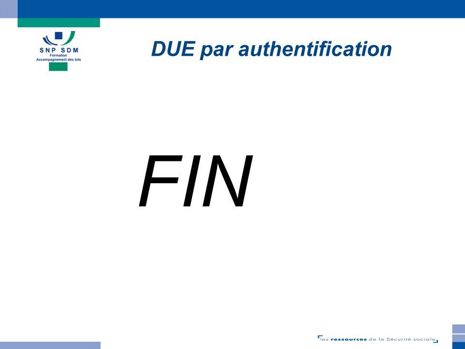 TELEDEP 3.3.1 FIN DUE par authentification