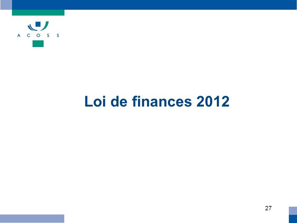 27 Loi de finances 2012