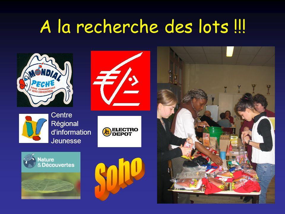 A la recherche des lots !!! Centre Régional dinformation Jeunesse
