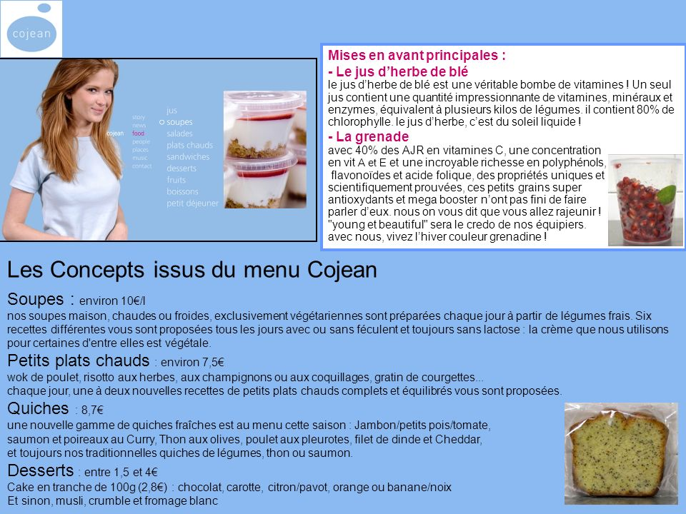 Mises en avant principales : - Le jus dherbe de blé le jus dherbe de blé est une véritable bombe de vitamines .