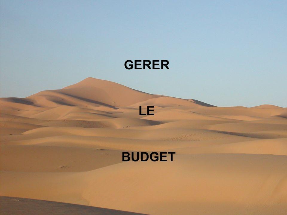 GERER LE BUDGET